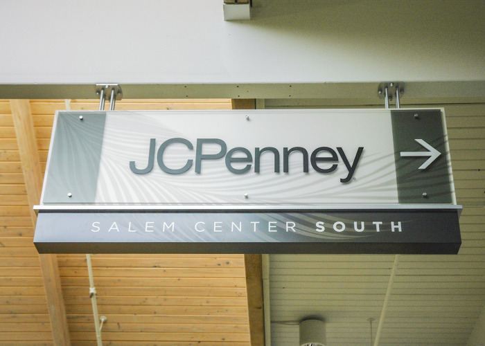 salem sign company, salem signs, salem center mall, indoor retail signage, retail signage