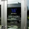 Washington window graphics, Washington window signs, discovery hall, university of Washington bothell, washington sign company