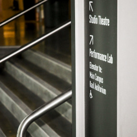 wayfinding, interior signs, portland signs, portland sign company, portland education signs