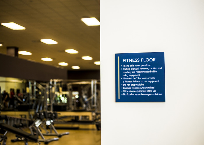 portland fitness, portland architectural signs, portland signage, portland gym