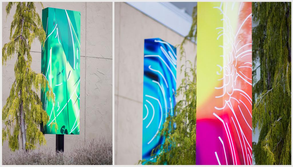art installment, portland art, portland signs, portland architectural signs, design portland